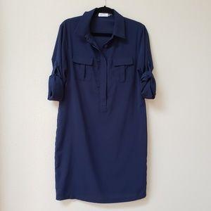 Calvin Klein Navy Blue Shirtdress
